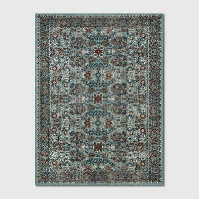 9'X12' Floral Tufted Area Rugs Blue - Threshold™   Tufted