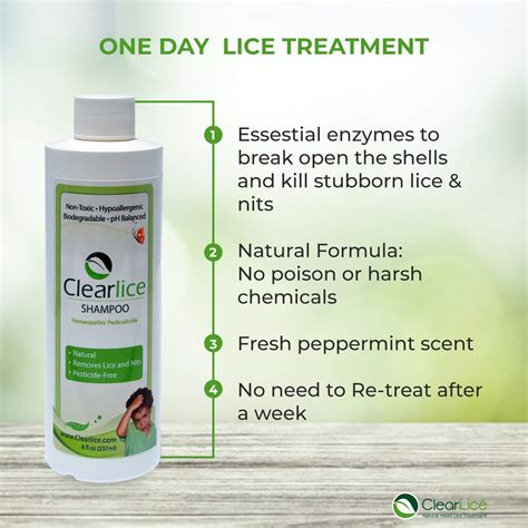 ClearLice Head Lice Treatment Conditioner - Natural and
